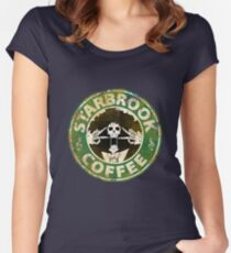 Starbrook Coffee Grunge Women's Fitted Scoop T-Shirt