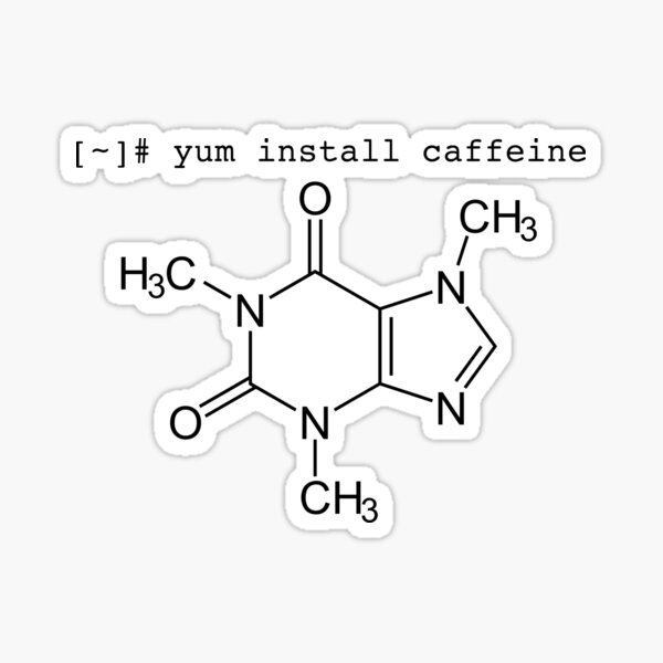 yum instalar cafeína Pegatina