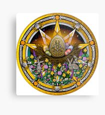 Sabbat Pentacle for Ostara the Spring Equinox Metal Print