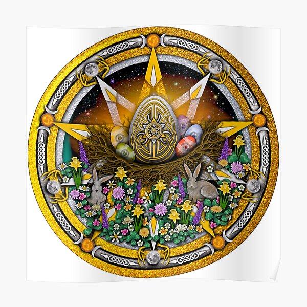 Sabbat Pentacle for Ostara the Spring Equinox Poster