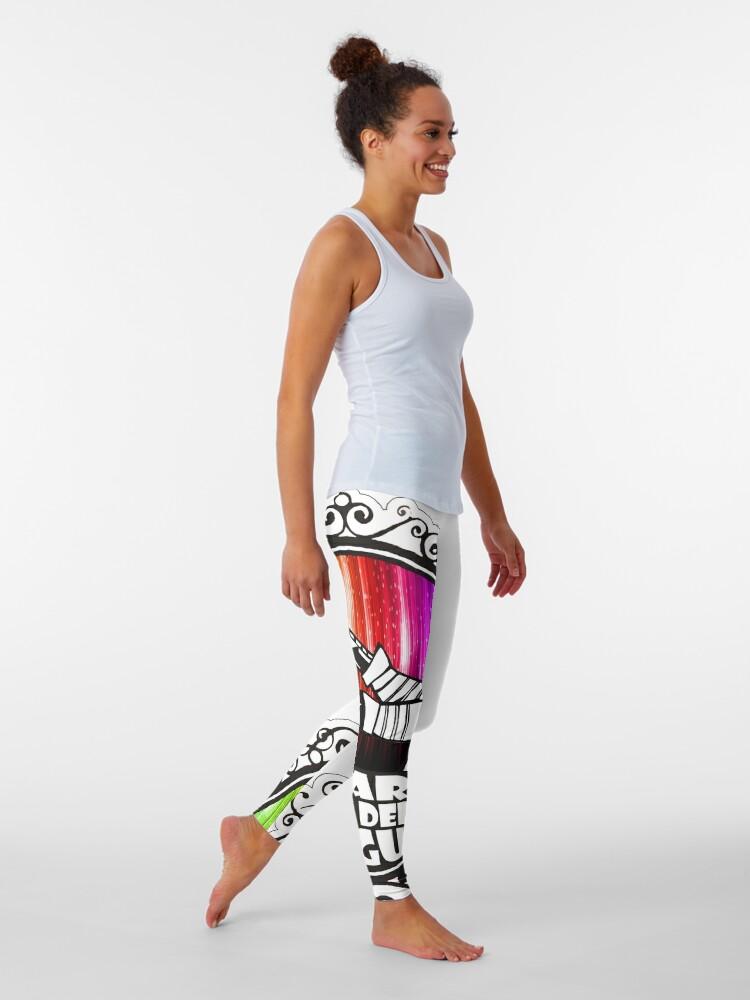 Alternate view of BRDL Rainbow Logo - Clothing, Pillows & Phone Wallet Leggings