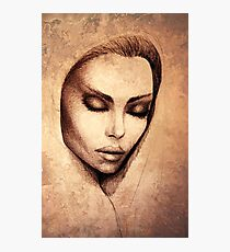 Female face drawing  Photographic Print