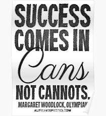 Canned Success Black Text T-shirts & Homewares Poster
