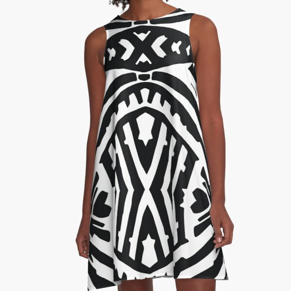 Tropical Palm A-Line Dress