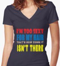 Hair Women's Fitted V-Neck T-Shirt
