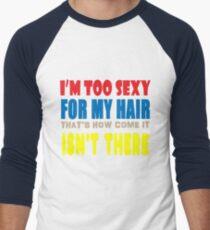 Hair Men's Baseball ¾ T-Shirt