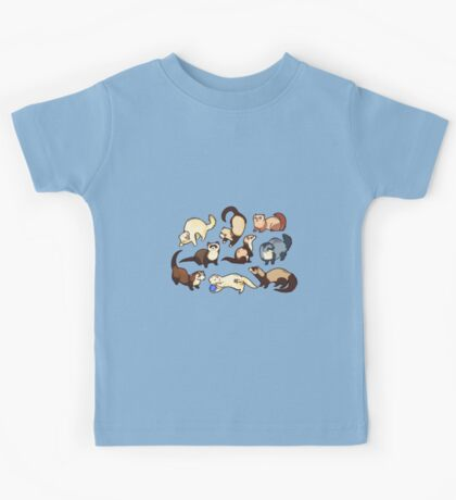 cat snakes in blue Kids Clothes