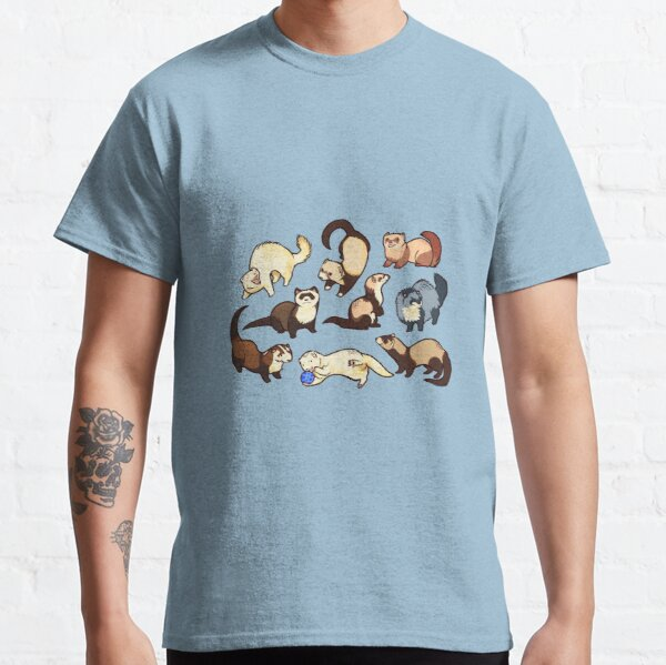 cat snakes in blue Classic T-Shirt