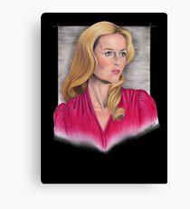 Gillian Anderson Portrait Canvas Print