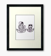 Arya and The Hound Framed Print
