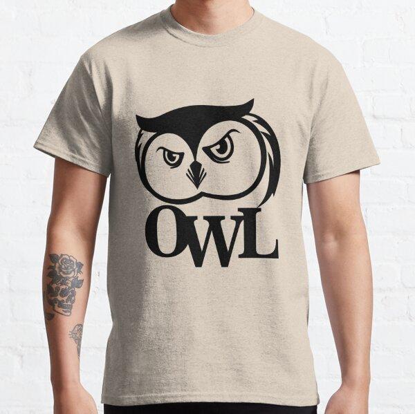 owl print illustration animals Classic T-Shirt