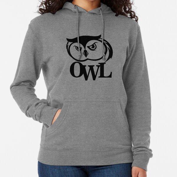 owl print illustration animals Lightweight Hoodie