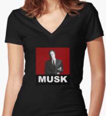 ELON MUSK  Women's Fitted V-Neck T-Shirt