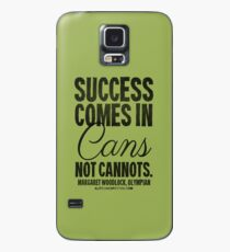 Canned Success Black Text T-shirts & Homewares Case/Skin for Samsung Galaxy