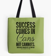 Canned Success Black Text T-shirts & Homewares Tote Bag