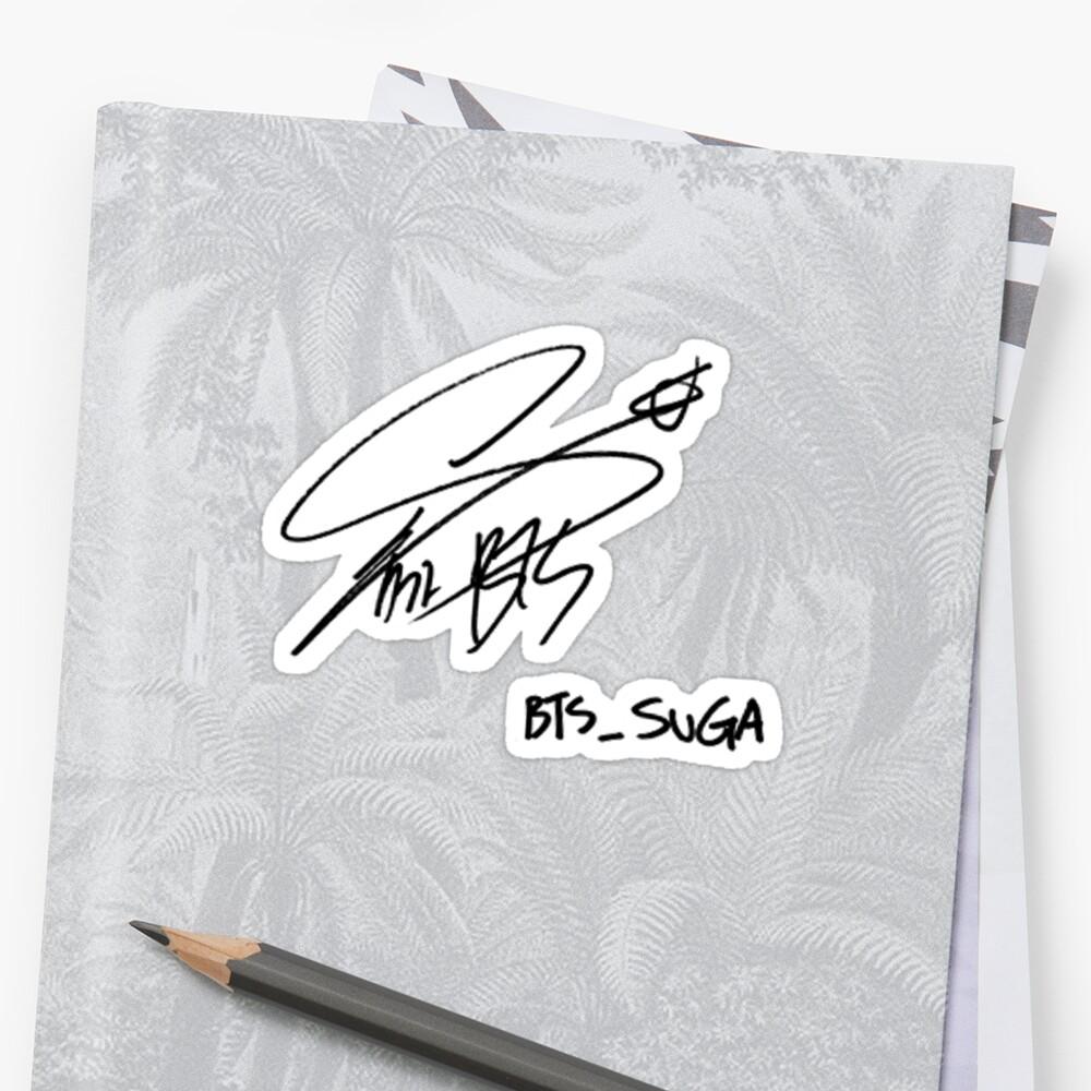 BTS Suga Signature by musicalsamurai