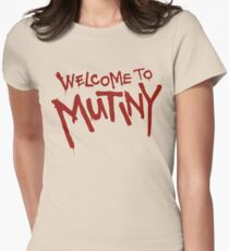 Welcome To Mutiny Womens Fitted T-Shirt