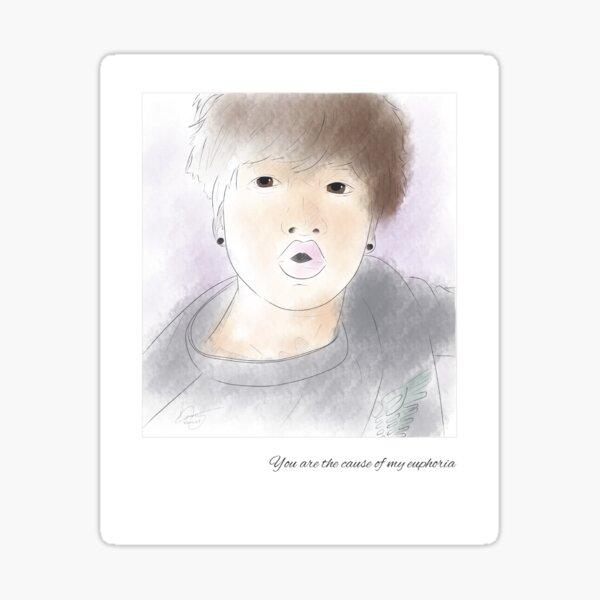 BTS Junkook Polaroid Pegatina brillante