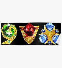 The 3 Spiritual Stones Ocarina of Time Poster