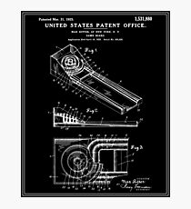 Skee Ball Patent - Black Photographic Print