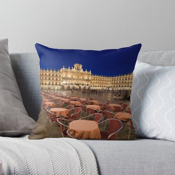 Mayor square, Salamanca Throw Pillow