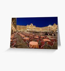 Mayor square, Salamanca Greeting Card