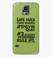 Rules of Life Black Text T-shirt & Homewares Case/Skin for Samsung Galaxy
