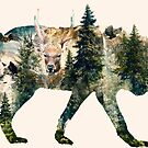 Wolf Pride Surrealism Nature Art by barrettbiggers