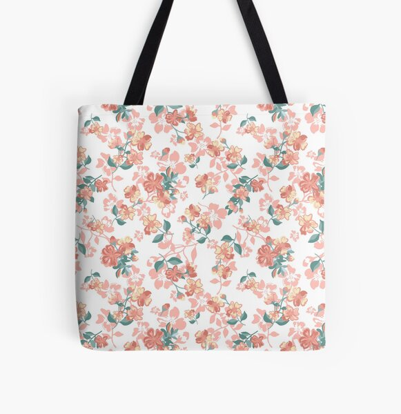 Pretty Floral pattern, spring vibe, vintage  All Over Print Tote Bag