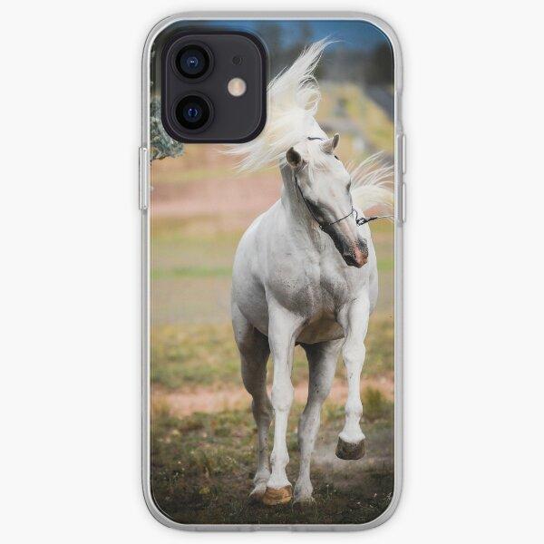 White Mane Flying iPhone Soft Case