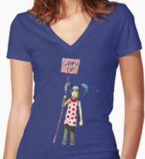 Or get out Women's Fitted V-Neck T-Shirt