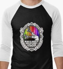 BRDL Rainbow Logo - Clothing, Pillows & Phone Wallet Baseball ¾ Sleeve T-Shirt