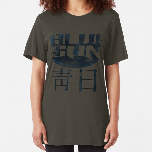 Blue Sun Logo - Firefly Slim Fit T-Shirt