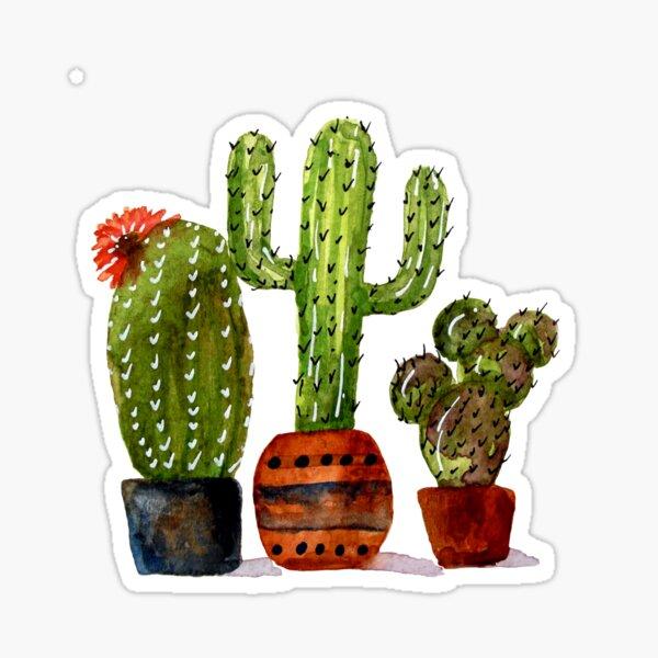 Strong Man Cactus - Watercolor Sticker