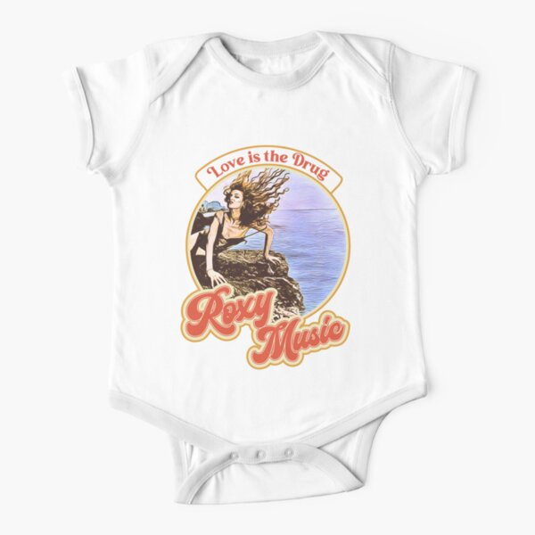 Roxy Music Retro Style Love is the Drug Short Sleeve Baby One-Piece