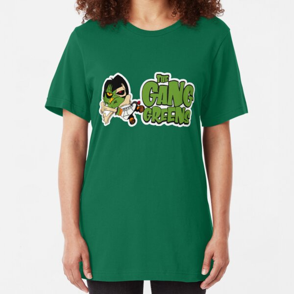 """BRDL """"The Gang Greens"""" Logo - Clothing, Stationery, Phone Cases & MORE! Slim Fit T-Shirt"""