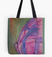 Pink and Purple Butterfly Tote Bag
