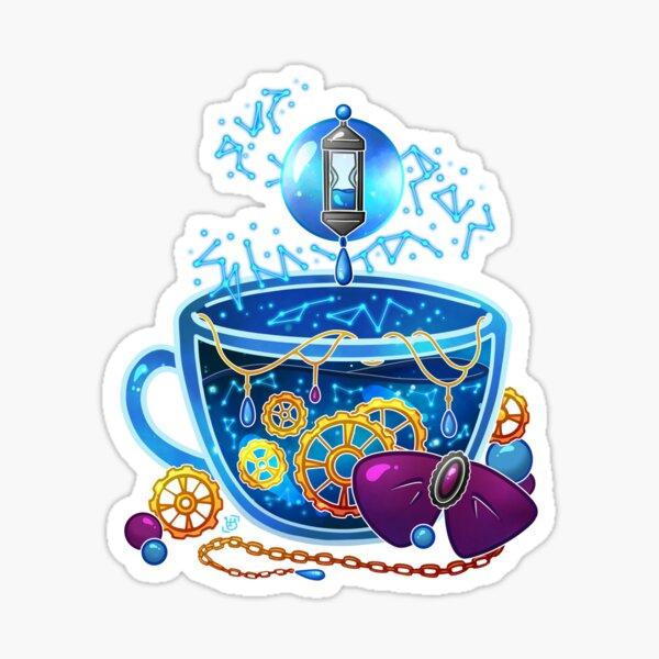 Blue Moon Teacup Sticker