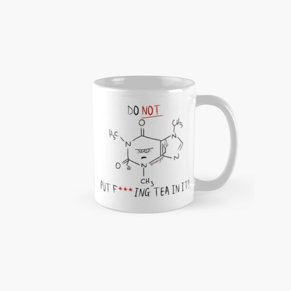 Grumpy Caffeine Chemistry Cartoon Classic Mug