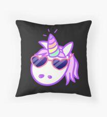 Rad Unicorn Throw Pillow