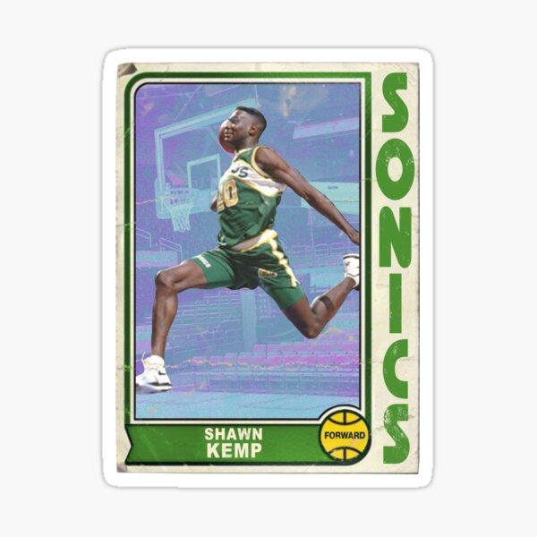 Shawn Kemp Retro Basketball Trading Card Design Sticker