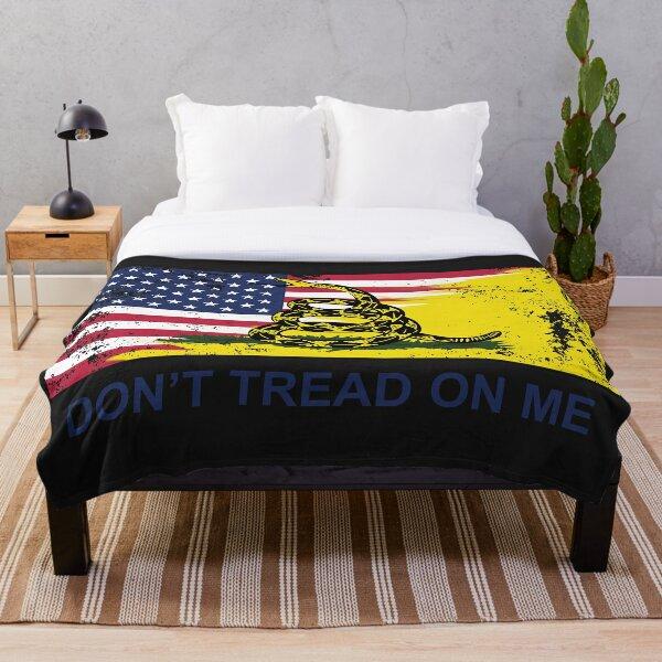 American Gadsden Flag Worn Throw Blanket