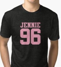 BLACKPINK Jennie 96 (Pink) Tri-blend T-Shirt