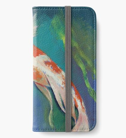 Kohaku Butterfly Koi iPhone Wallet
