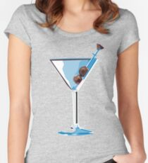 Martini glass Women's Fitted Scoop T-Shirt