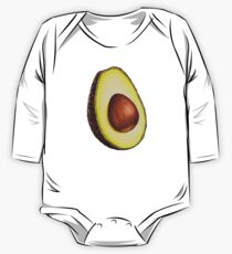 Avocado Pattern One Piece - Long Sleeve