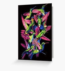 Hummingbird Dance in Sharpie Greeting Card