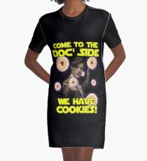 Come to the Doc' Side Graphic T-Shirt Dress