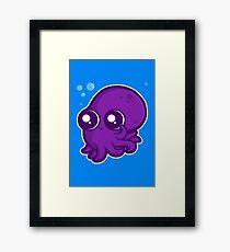 Super Cute Squid Framed Print