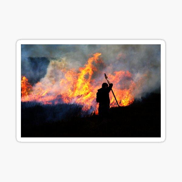 Heather Burning - Yorkshire Dales Sticker